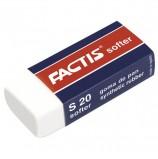 Резинка стирательная FACTIS Softer S 20 (Испания), 56х24х14 мм, картонный держатель, синтетический каучук, CMFS20