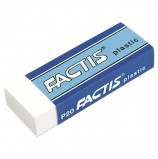 Резинка стирательная FACTIS Plastic P 20 (Испания), 61х22х11 мм, мягкая, картонный держатель, CPFP20