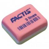 Резинка стирательная FACTIS 3 Lines (Испания), прямоугольная, 30х24х13 мм, три цвета, ПВХ, CPF3LINES