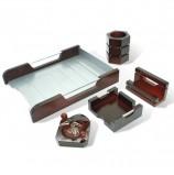 Набор настольный GALANT 'Wood&Metal', 5 предметов, красное дерево и никелированный металл, 230873