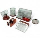 Набор настольный GALANT 'Wood&Metal', 6 предметов, красное дерево и никелированный металл, 230876