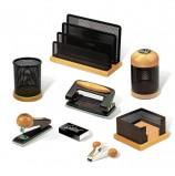 Набор настольный GALANT 'Wood&Metal', 8 предметов, светлое дерево и черный металл, 230877