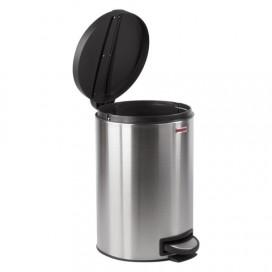 Ведро-контейнер для мусора (урна) с педалью ЛАЙМА 'Modern', 12 л, матовое, нержавеющая сталь, со съемным внутренним ведром, 232264