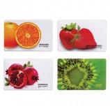 Обложка-карман для карт, пропусков 'Фрукты', 95х65 мм, ПВХ, полноцветный рисунок, дизайн ассорти, ДПС, 2802.ЯК.Ф