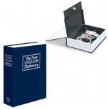 Сейф-книга BRAUBERG 'Английский словарь', 54х115х180 мм, ключевой замок, темно-синий, 290460