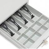 Ящик для денег 'МЕРКУРИЙ 100.2', МАЛЫЙ, (БЕЗ ПОДКЛЮЧЕНИЯ ККМ), 333х407х103 мм, серый, М-100.2
