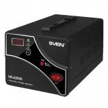 Стабилизатор напряжения SVEN VR-A2000, 2000ВА/1200 Вт, 2 розетки, входное напряжение 140-275 В, SV-014414