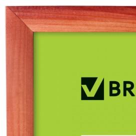 Рамка 10х15 см, дерево, багет 18 мм, BRAUBERG 'HIT', темная вишня, стекло, подставка, 390256