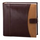 Фотоальбом BRAUBERG на 200 фото 10х15 см, под гладкую кожу, бумажные страницы, застежка, темно-коричневый, 390479