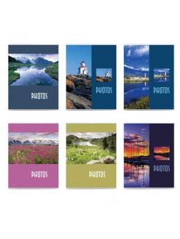 Фотоальбом BRAUBERG на 36 фото 10х15 см, мягкая обложка, 'Пейзаж', ассорти, 390649