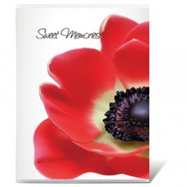Фотоальбом BRAUBERG на 36 фото 10х15 см, мягкая обложка, 'Цветы', белый с рисунком ассорти, 390654