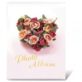 Фотоальбом BRAUBERG на 36 фотографий 10х15 см, мягкая обложка, 'Любовь', белый с рисунком ассорти, 390653