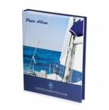 Фотоальбом BRAUBERG на 100+4 фотографии 10х15 см, твердая обложка, 'Вид с яхты', синий, 390664