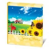 Фотоальбом BRAUBERG на 100+4 фотографии 10х15 см, твердая обложка, 'На природе', желтый, 390665