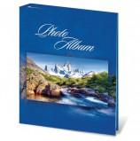 Фотоальбом BRAUBERG на 200 фотографий 10х15 см, твердая обложка, 'Горный пейзаж', синий, 390669