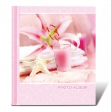 Фотоальбом BRAUBERG на 10 магнитных листов, 23х28 см, 'На память', розовый, 390682