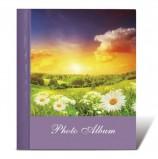 Фотоальбом BRAUBERG на 10 магнитных листов, 23х28 см, 'Рассвет', фиолетовый, 390684