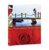Фотоальбом BRAUBERG на 20 магнитных листов, 23х28 см, 'Чувства', красный, 390685