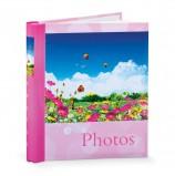 Фотоальбом BRAUBERG на 20 магнитных листов, 23х28 см, 'Дивный луг', розовый, 390686