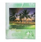 Фотоальбом BRAUBERG на 20 магнитных листов, 23х28 см, 'Курорт', индивидуальный бокс, зеленый, 390687