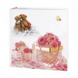 Фотоальбом BRAUBERG свадебный, на 200 фотографий 10х15 см, твердая обложка, бокс, бело-розовый, 390689
