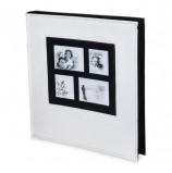 Фотоальбом BRAUBERG на 500 фотографий 10х15 см, обложка под кожу рептилии, рамка для фото, белый, 390713