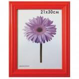 Рамка премиум 21х30 см, дерево, багет 26 мм, 'Linda', красная, 0065-8-0003