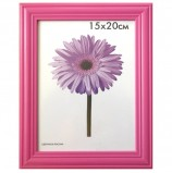Рамка премиум 15х20 см, дерево, багет 26 мм, 'Linda', малиновая, подставка, 0065-6-0020