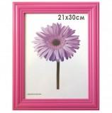 Рамка премиум 21х30 см, дерево, багет 26 мм, 'Linda', малиновая, 0065-8-0020