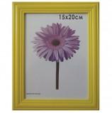 Рамка премиум 15х20 см, дерево, багет 26 мм, 'Linda', желтая, подставка, 0065-6-0002