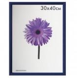 Рамка премиум 30х40 см, пластик, багет 13 мм, 'Maria', синяя, 5052-15-0004