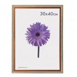 Рамка премиум 30х40 см, пластик, багет 22 мм, 'Rosa', бронза, 0049-15-2124