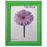 Рамка премиум 10х15 см, дерево, багет 26 мм, 'Linda', зеленая, подставка, 0065-4-0008