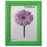Рамка премиум 15х20 см, дерево, багет 26 мм, 'Linda', зеленая, подставка, 0065-6-0008