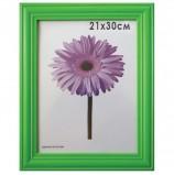 Рамка премиум 21х30 см, дерево, багет 26 мм, 'Linda', зеленая, 0065-8-0008