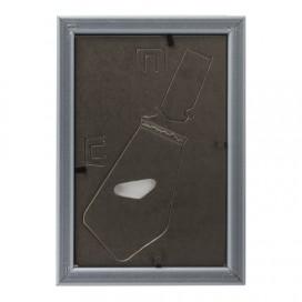 Рамка 10х15 см, пластик, багет 16 мм, BRAUBERG 'HIT5', серебро с двойной позолотой, стекло, 391061