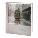 Фотоальбом BRAUBERG 20 магнитных листов, 23х28 см, 'Трамвай', светло-коричневый, 391125