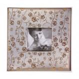 Фотоальбом BRAUBERG свадебный, 20 магнитных листов 30х32 см, под фактурную кожу, золотистый, 391126