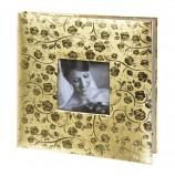 Фотоальбом BRAUBERG свадебный, 20 магнитных листов 30х32 см, под фактурную кожу, светло-золотистый, 391127