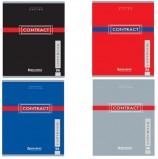Тетрадь А5, 96 л., BRAUBERG, клетка, обложка картон, КОНТРАКТ, 400523