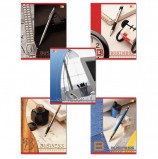 Тетрадь А5, 96 л., HATBER VK, скоба, клетка, обложка картон, 'БИЗНЕС' (5 видов), 96Т5С1, Т32930