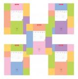 Тетрадь 18 л., ERICH KRAUSE, клетка, обложка картон, 'ЦВЕТНЫЕ КВАДРАТЫ', 42572