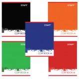 Тетрадь А5, 48 л., STAFF, клетка, офсет №2 ЭКОНОМ, обложка картон, 'ОФИС', 402783