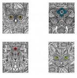 Тетрадь А5, 48 л., HATBER, скоба, клетка, обложка картон, 'DOODLE-ART' (5 видов в спайке), 48Т5В1, T242896
