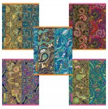 Тетрадь А5, 48 л., HATBER, скоба, клетка, 3D фольга, матовая ламинация, 'GOLD COLOR' (5 видов), 48Т5лофВ1, T254127