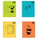 Тетрадь, А5, 48 л., HATBER, гребень, клетка, обложка картон, 'Вся правда о медведях' (4 вида), 48Т5В1гр