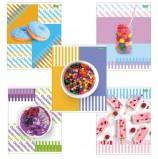 Тетрадь А5, 48 л., HATBER ECO, скоба, клетка, обложка картон, 'Candy' (5 видов), 48Т5C1