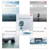 Тетрадь А5, 96 л., HATBER, скоба, клетка, выборочный лак, 'The magazine' (5 видов), 96Т5вмВ1