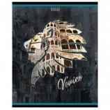Тетрадь, А5, 96 л., HATBER, скоба, клетка, обложка картон, 'Венеция' (1 вид), 96Т5В1_20097