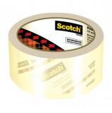 Клейкая лента упаковочная 48 мм х 50 м, прозрачная, ЭКОНОМ, толщина 40 микрон, SCOTCH, A2J